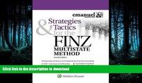 Read Book Strategies   Tactics for the FINZ Multistate Method (Emmanuel Bar Review) (Emanuel Bar