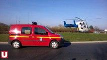 Les secours transportent un adolescent blessé en hélicoptère