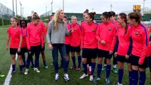 Allie Long describes admiration for Barça and especially Sergio Busquets and Leo Messi