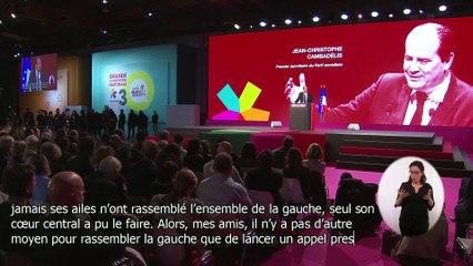 Jean-Christophe Cambadélis lance un appel au rassemblement de toute la Gauche