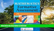 PDF Mathematics Formative Assessment, Volume 1: 75 Practical Strategies for Linking Assessment,
