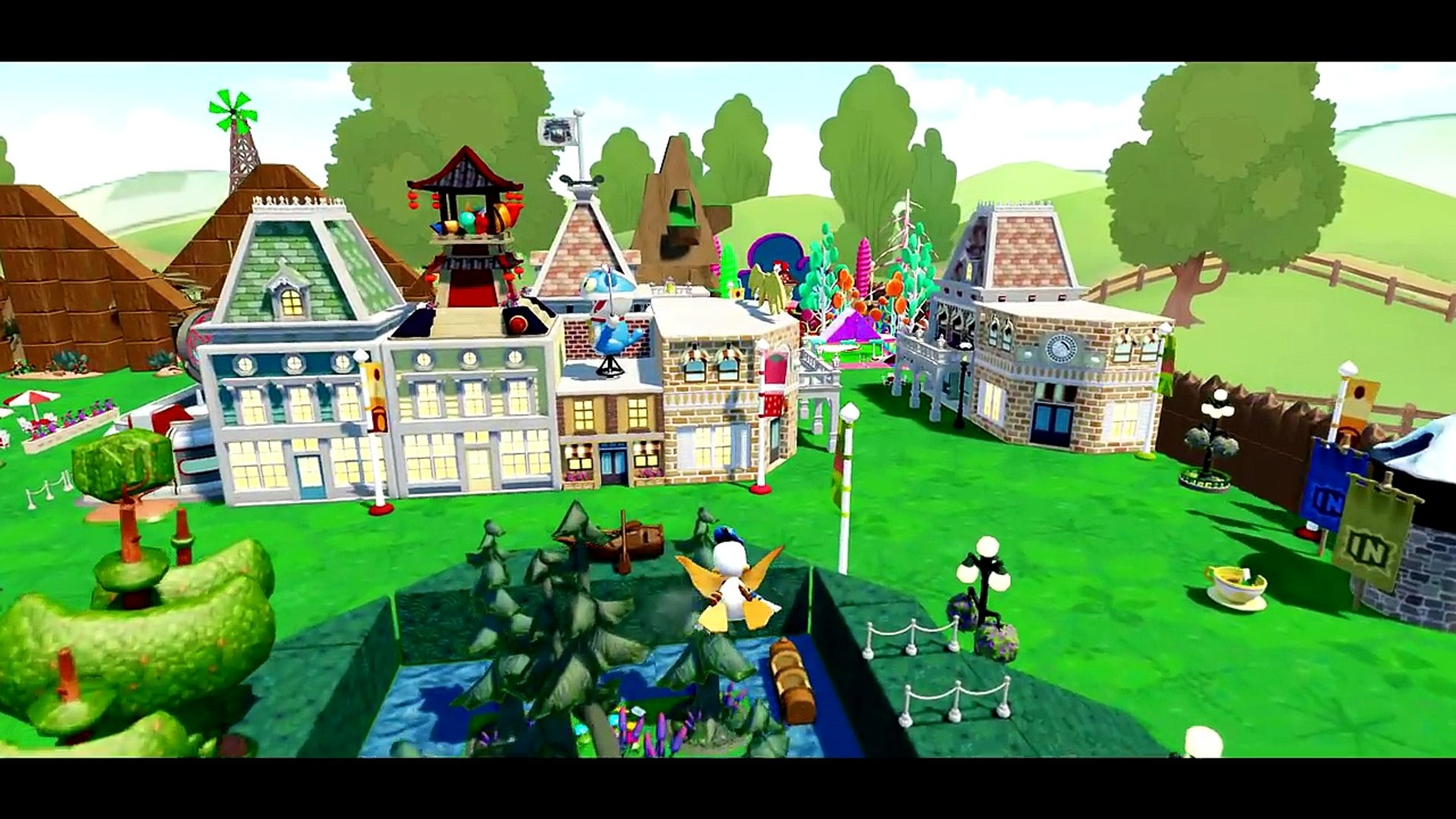 Dinsey Mickey Mouse, Minnie & Donald Duck in Amusement Park + Nursery Rhymes for kids & chil