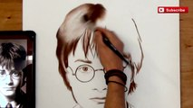 Harry Potter AMAZING Speed Painting - Daniel Radcliffe Paintings [How to Draw]