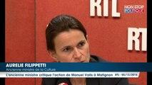 """Manuel Valls candidat : pour Aurélie Filippetti, """"l'échec de Hollande, c'est aussi son échec"""""""
