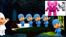 5 Little Talking Pocoyo Jumping On the Bed Five Little Monkeys Nursery Rhymes for Toddlers ans Kids