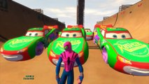 Yellow GREEN Purple Blue Spiderman Nursery Rhymes for Children Disney Pixar Cars Spiderman Colors