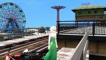 Elsa fait de la moto dans la ville | La Reine des Neiges le film | En Français | Jeu vidéo Frozen