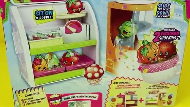 Shopkins With Frozen Elsa Anna amp Lego Duplo Spider Man Fruit and Veg Stand DisneyCarToys