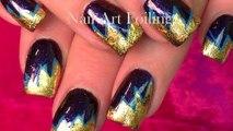 Foiling Nails | GOLD Summer Nail Art Foil Design Without Gel Tutorial
