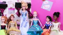 Frozen Elsa Disney Princess Attack Barbie DisneyCarToys Parody with Spiderman Jasmine and Ariel