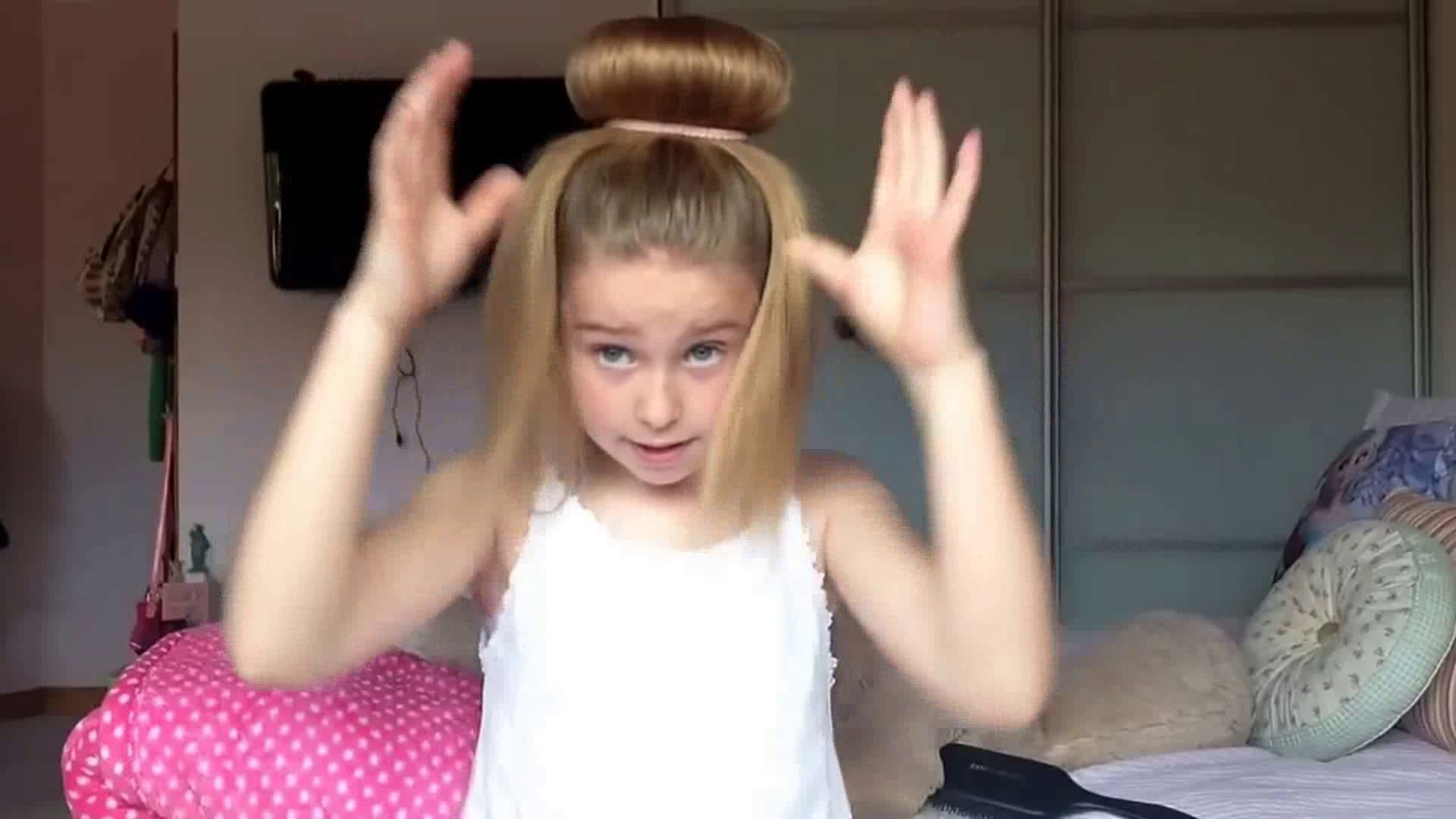 cute girls new hairstyle video