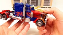 Transformers Movie 1 Optimus Prime VS Bonecrusher Truck Vehicle Transformation Robot Car Toys