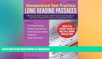 Hardcover Standardized Test Practice: Long Reading Passages: Grades 7-8: 16 Reproducible Passages