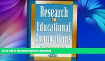 Hardcover Research on Educational Innovations (Library of Innovations Series) On Book