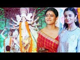 Kajol & Alia Bhatt VISITS Durga Puja Pandal 2016 Celebration