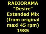 "RADIORAMA  ""Desire"" Extended Mix 1985"