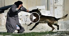 Israeli Defense Force (IDF) using attack dogs on Palestinian Women