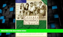Best Price Private Secondary Schools 2001-2002 (Private Secondary Schools, 2002) Peterson s For