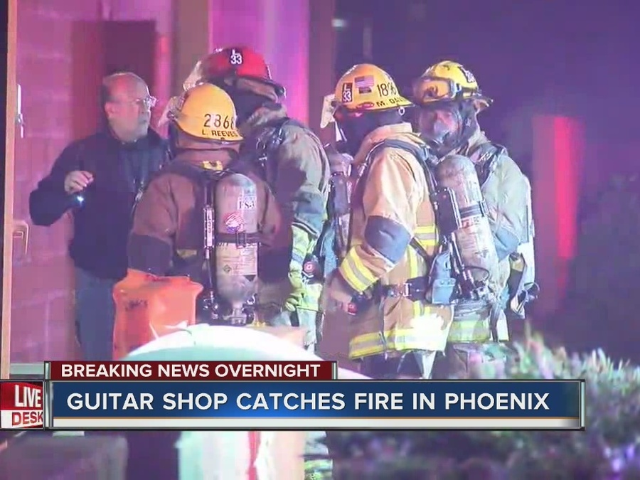 2nd alarm fire called at North Phoenix Guitar Center