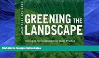 Audiobook Greening the Landscape: Strategies for Environmentally Sound Practice Adam Regn Arvidson