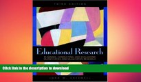 Hardcover Educational Research: Planning, Conducting, and Evaluating Quantitative and Qualitative
