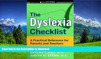 Pre Order The Dyslexia Checklist: A Practical Reference for Parents and Teachers  Kindle eBooks