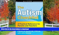 READ The Autism Checklist: A Practical Reference for Parents and Teachers  Full Book