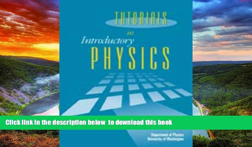 Pre Order Tutorials in Introductory Physics Lillian C. McDermott Audiobook Download