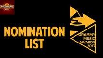 Grammy Music Awards 2017 Nomination List   Hollywood Asia