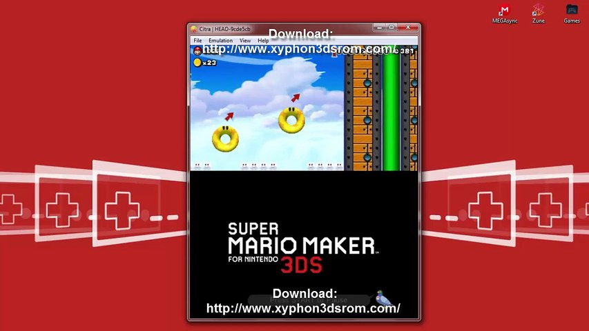 Citra JIT - Super Mario Maker 3DS Download  3DS Decrypted ROM