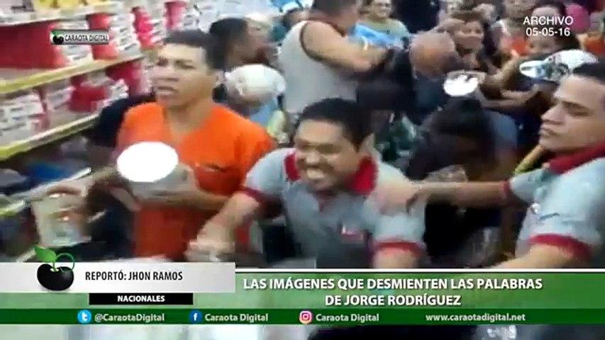 Las imágenes que desmienten las palabras de Jorge Rodríguez