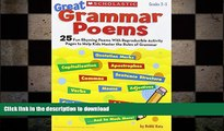 Hardcover Great Grammar Poems: 25 Fun Rhyming Poems With Reproducible Activity Pages That Help