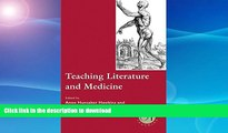 READ Teaching Literature and Medicine (Options for Teaching)