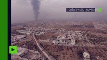 Syrie : en ruines mais libérés, des quartiers d'Alep filmés depuis un drone