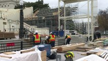 Construction work for US inauguration starts at Capitol