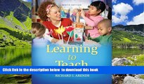 Pre Order Learning to Teach, 9th Edition Richard Arends Full Ebook