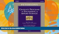 Online Peterson s Grad Guides BK5: Engineer/Appld Scis 2006 (Peterson s Graduate and Professional