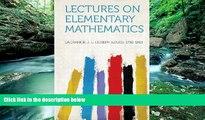 Online Lagrange J. L. (Joseph Louis 1736-1813 Lectures on Elementary Mathematics Full Book Epub