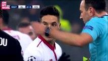Samir Nasri insulte violemment l'arbitre de Lyon-Séville