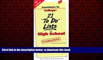 Pre Order Countdown to College: 21 To Do Lists for High School: Step-By-Step Strategies for 9th,