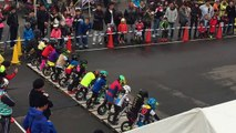 Une course de vélo sans pédales au Japon