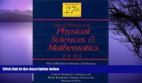 Buy Peterson s Peterson s Guide to Graduate Programs in the Physical Sciences and Mathmatics 1993