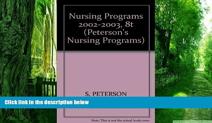 Best Price Nursing Programs 2002-2003, 8th ed (Nursing Programs, 8th ed) Peterson s On Audio