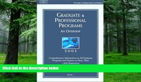 Price Grad Gdes Book 1:Grad/Prof Prg Orvw 2003 (Peterson s Graduate and Professional Programs : An