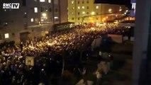 Les fans de Shalke réveille la ville de Salzbourg