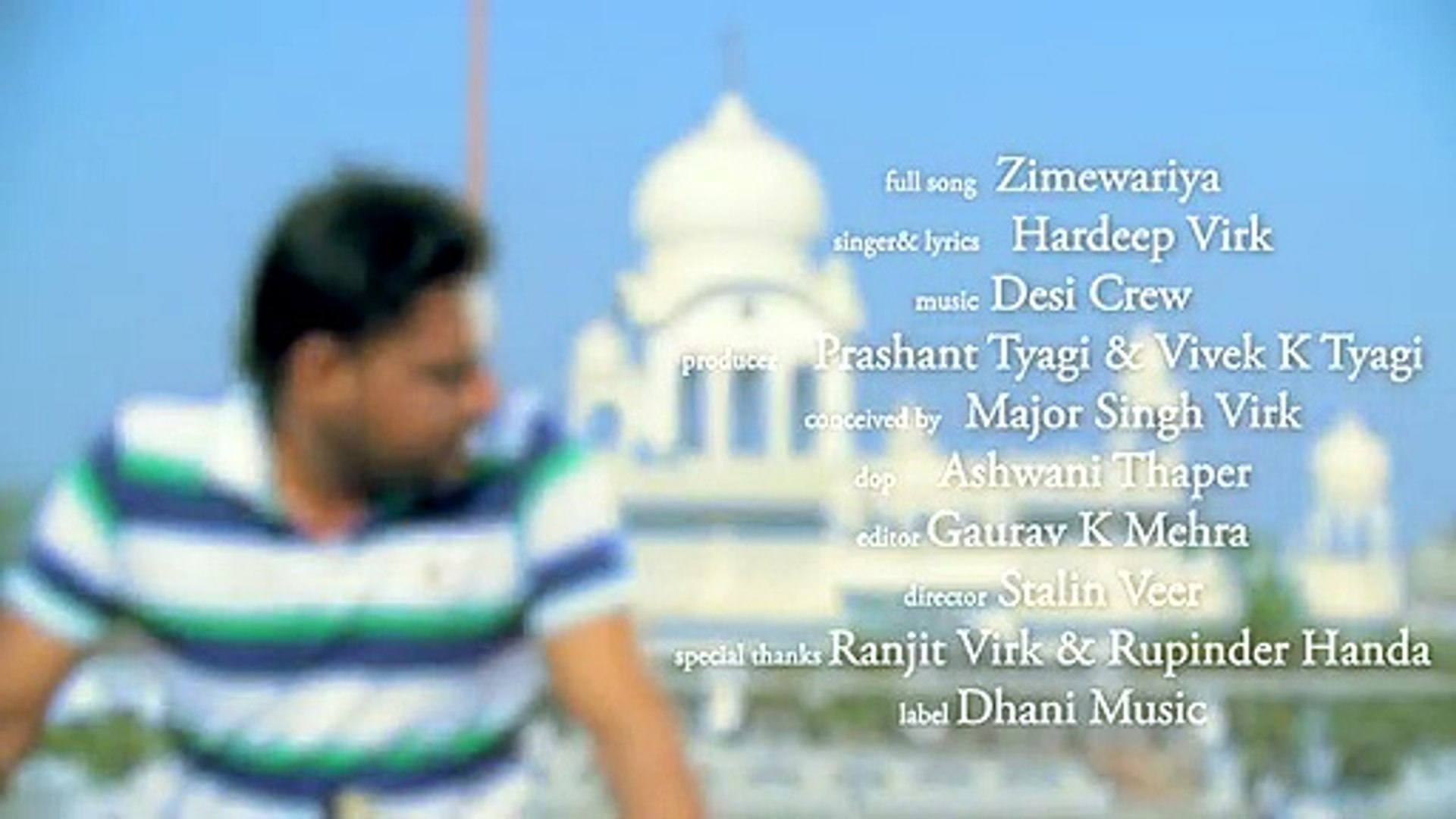 New Punjabi Songs 2015 Zimewariya By Hardeep Virk Latest Punjabi Songs 2015 Punjabi Songs - Video Da
