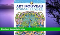 Pre Order Dover Creative Haven Art Nouveau Animal Designs Coloring Book (Adult Coloring) Marty