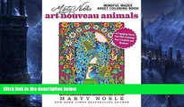 Audiobook Marty Noble s Mindful Mazes Adult Coloring Book: Art Nouveau Animals: 48 Engaging Mazes
