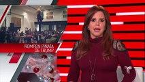 Funcionarios mexicanos rompieron piñata de Trump