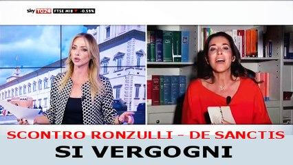 "Scontro Ronzulli De Sanctis: ""Berlusconi delinquente"" - ""Si Vergogni!"" Sgarbi: ""Ha ragione!"""